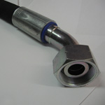 Méretre készített 4SH DN32-es hidraulika tömlő kiszakadásbiztos kivitelben.
